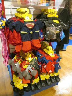 Build-A-Bear Workshop Opens in FAO Schwarz in NYC! #NYC @Build-A-Bear Workshop Check out their awesome hero costumes - #Superman #Batman #Thor & #Spiderman!