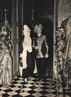 hotelhautesociete:  then Crown Princess (now Queen) Margrethe of Denmark and her husband Prince Henrik at Le Bal Oriental, 5 December 1969