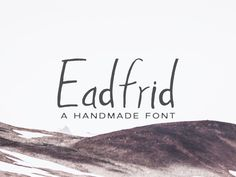 Free Eadrifd Handmade Font designed by CreativeTacos. the global community for designers and creative professionals. Typography Fonts, Hand Lettering, Logo Branding, Branding Design, Wedding Fonts, Web Design, Graphic Design, Handwriting Fonts, Brand Design