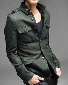 Military inspired jacket. Fresh fashion inspiration daily, follow http://pinterest.com/pmartinza