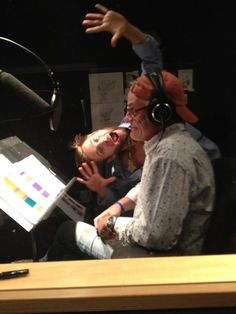 Greg Cipes voice of Michelangelo and Rob Paulsen voice of Donatello