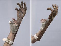 DIY badass mechanical hand here's two very good tutorials for you.