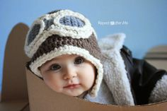 Free pattern Repeat Crafter Me: Crochet Aviator Hat Pattern