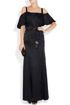 TEMPERLEY LONDON  Scarlett cutout-shoulder silk-satin gown -