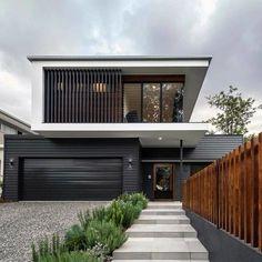 Facade Design, Exterior Design, Architecture Design, Contemporary Architecture, Contemporary Benches, Modern Contemporary Homes, Contemporary Cottage, Contemporary Wallpaper, Contemporary Chandelier