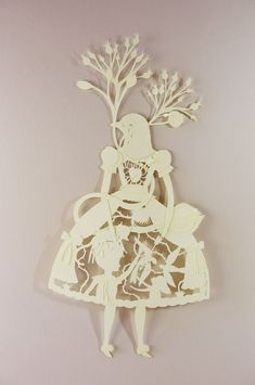 ℘ Paper Dress Prettiness ℘ art dress made of paper - Elsa Mora