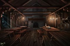Tavern , Anthony Avon on ArtStation at https://www.artstation.com/artwork/lxE1O