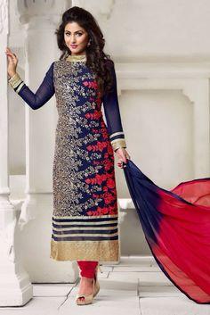 #Georgette #Embroidary #Fashion #SalwarKameez #Buyonline
