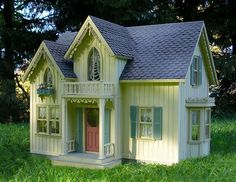 The website that this PIN leads you too is UNBELIEVABLE. I have NEVER seen such incredible miniature homes. THEY LOOK SO REAL!!! Carpenter gothic dollhouse of gorgeousness