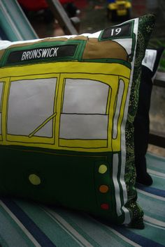 Tram love ...cushions by Mrs.Beckinsale.