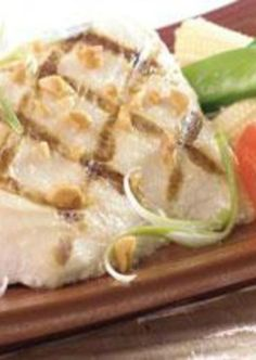 Sprinkle on the Mahi Mahi with lemon juice, season with salt and pepper and grill until desired doneness.