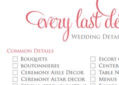 Get the most complete, detailed 14-page Wedding Planning Checklist ...