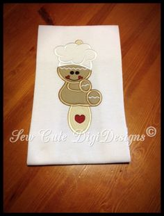 Christmas Cookie Baking Gingerbread sitting by SewCuteDigiDesigns
