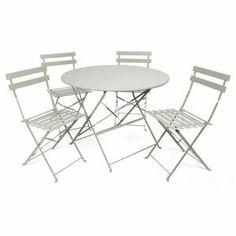 FINLANDEK - Ensemble repas 4 places GRIS - HIENO | Salons and Tables