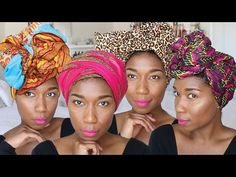 10 CHIC Ways To Tie Head Wraps | SUPER EASY [Video] - Black Hair Information