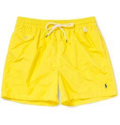 Polo Ralph Lauren Mid-Length Swim Shorts in yellow