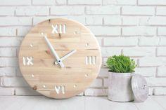 15.7 in moderne houten Wandklok