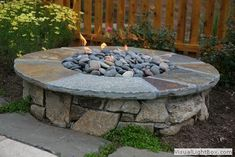 New Jersey Firepits on Patios - Landscaping Allamuchy, NJ using Outdoor Fireplaces Made of Stone