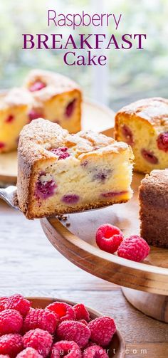 Raspberry Ricotta Breakfast Cake A deliciously moist and fluffy berry-streaked breakfast (coffee) cake perfect for dessert breakfast brunch or afternoon tea. The post Raspberry Ricotta Breakfast Cake appeared first on Win Dessert. Bon Dessert, Breakfast Dessert, Recipes For Breakfast, Breakfast And Brunch, Just Desserts, Dessert Recipes, Cake Recipes, Drink Recipes, Yummy Recipes