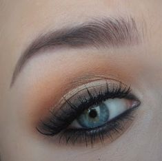 warm brown smokey eye