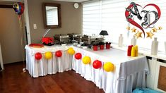 Catering table decoration Catering Table, Dreams, Table Decorations, Birthday, Birthdays, Dirt Bike Birthday, Birth Day