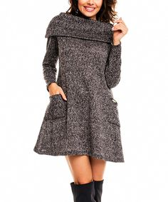 Love this Awama Graphite Pocket A-line Dress by Awama on #zulily! #zulilyfinds