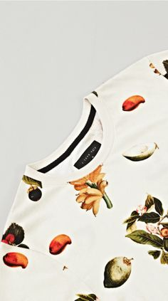 I Love Ugly New Zealand menswear label - All over fruit digital print. Really good use of space.