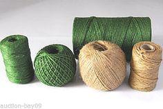 EVERLASTO JUTE GARDEN TWINE - GREEN OR NATURAL - VARIOUS LENGTHS
