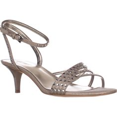 Nine West Lastage Dress Sandals, Silver, 10 US