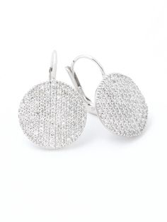 Phillips House 14k Pave Diamond Disc Earrings at London Jewelers!