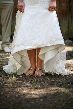 Rustic Bride Flip Flops