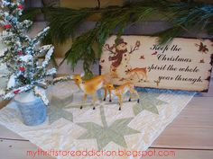 My Thrift Store Addiction : The Eleventh Day of Christmas: Thrift Store Whimsy and Vignettes #ThriftyChristmas #Whimsy