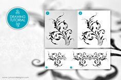 My latest tutorial on how to draw a simple flourish. Video tutorial included as well as an explanation of how to turn the drawing into a vector.    #tutorial #drawing #flourish #resources #famz #junoondesigns
