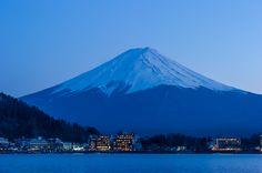 Fuji in falling light - , Kanagawa