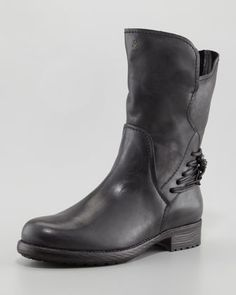 Henry Beguelin 2013.Fall Lace-Back Motorcycle Boot, Black by Henry Beguelin at Neiman Marcus.