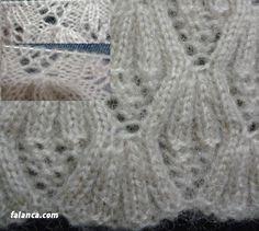 İnci Çiçeği Yelek Modeli 3 konusuna ait görseller ve resimler | Falanca Kadın Portalı Knitting Stitches, Diy And Crafts, Knitting Patterns, Crochet, Lace, Sweaters, Women, Fashion, Animals
