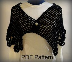 Floral Edged Crochet Cape PDF Pattern by KimberleesKorner on Etsy, $4.50. Will somebody make me one of these please?