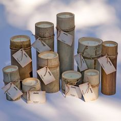 Hand-crafted, Natural Bamboo Candles  $21