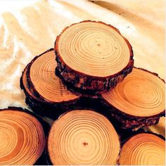 DIY Ideas, Videos and Shopping | Darby Smart set of 55 sliced white pine slices 22.00