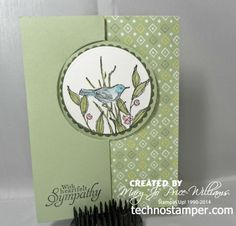 Mary Jo combined the Circle Card Thinlits Die with Simply Sketched (hostess) and Sweet Sorbet dsp (SAB) for her lovely card. All supplies from Stampin' Up! Fun Fold Cards, 3d Cards, Paper Cards, Folded Cards, Stampin Up Cards, Card Making Inspiration, Making Ideas, Swing Card, Circle Labels