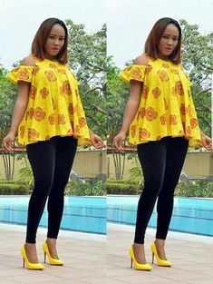Trending Ankara Tops at the Moment African Tops For Women, African Dresses For Kids, Latest African Fashion Dresses, African Print Dresses, African Print Fashion, Ankara Tops, African Attire, African Wear, Chitenge Outfits