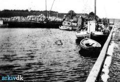 arkiv.dk   Blans havn billede fra havnen med ukendte skibe