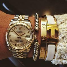 Rolex, David Yurman, Cartier, Hermes