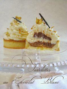 La réalisation des choux au chocolat cœur praliné du St-Honoré d'anniversaire de mon homme m'a inspirée ces petites tartelettes. J...