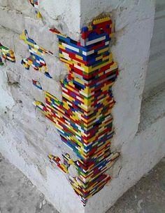Secret Lego wall
