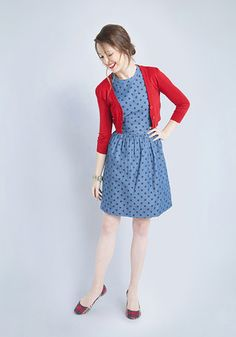 Do you want to buy a red cardigan? We offer you 12 ideal images with red cardigan! Outfit Vestidos, Fashion Vestidos, The Dress, Dress Skirt, Skater Dress, Cute Dresses, Casual Dresses, Vintage Dresses, Pretty Outfits