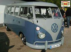 VW Bulli Bus Volkswagen luftgekühlt aircooled tief low oldschool cool surf blue Alt Auto Treff  AAT Alu felgen wheels
