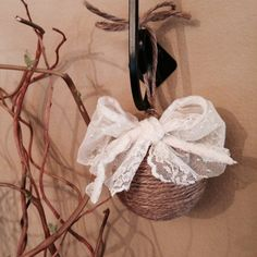 Shabby Chic Christmas Ornament by DecorativelyYours on Etsy, $7.50
