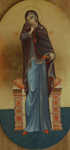 """ΜΡ.ΘΥ__Παναγια """" ο Ευαγγελισμος"""" _march 25 (detail Annunciatie, Grecu Stas) Religious Images, Religious Icons, Religious Art, Roman Church, Paint Icon, Mama Mary, Spirited Art, Byzantine Art, Blessed Virgin Mary"""