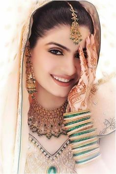 Gold and Green Jeweled Punjabi Bride